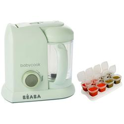 Beaba Babycook Macaron Collection 4 in 1 Steam Cooker and Blender - Pistachio with BONUS 2oz/70 ml Baby Cubes