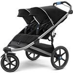Thule 10101927 Urban Glide 2 Double Jogging Stroller - Black/Silver