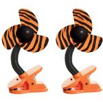 DreamBaby Clip-on Stroller Fan 2 Pack - Tiger