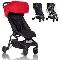 Mountain Buggy - Nano 2 Stroller -  Ruby with All Weather Cover Pack