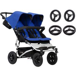 Mountain Buggy Duet V3_5 Double Buggy Stroller with Aerotech Wheel Set - Marine