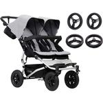 Mountain Buggy Duet V3_5 Double Buggy Stroller with Aerotech Wheel Set - Silver