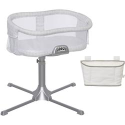 Halo - Swivel Sleeper Bassinet - Premiere Series - Luna with Storage Caddy