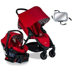 Britax Pathway & B-Safe 35 Travel System with Back Seat Mirror - Cabana