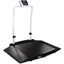Rice Lake 350-10-3-BT Two Ramp Handrail Wheelchair Scale with Bluetooth 1000 lb x 0.2 lb