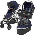 UPPABaby VISTA Stroller and MESA Car Seat Travel System - Taylor (Indigo/Silver/Saddle Leather)