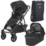 UPPAbaby 0318-VIS-US-JKE-BAG VISTA Stroller - Jake (Charcoal Black/Carbon/Leather) with Vista Travel Bag