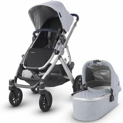 UPPAbaby 0318-VIS-US-WIL VISTA Stroller - William (Chambray Oxford/Silver/Navy)