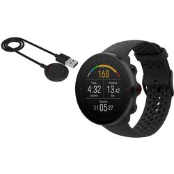 Polar Vantage M Multi Sport GPS Heart Rate Watch - Black with USB Charging Cable (Small)