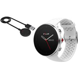 Polar Vantage M Multi Sport GPS Heart Rate Watch - White with USB Charging Cable (Small)