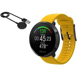 Polar Ignite GPS Heart Rate Monitor Watch - Yellow/Black (M/L) with BONUS Charging Cable