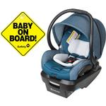 Maxi-Cosi Mico Max Plus Infant Car Seat - Sparkling Teal with BONUS Baby on Board Sign