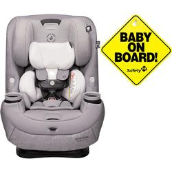 Maxi-Cosi Pria Max 3-in-1 Convertible Car Seat - Nomad Grey with Baby on Board Sign