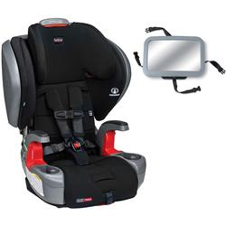 Britax Grow with You ClickTight Plus Harness-2-Booster Car Seat - Jet with Backseat Mirror