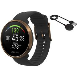 Polar Ignite GPS Heart Rate Monitor Watch - Black/Copper (M/L) with BONUS Charging Cable