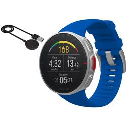 Polar Vantage M Multi Sport GPS Heart Rate Watch - Blue (M/L) with BONUS USB Charging Cable