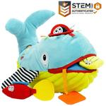Dolce Play & Learn Whale Plush Interactive Stuffed Animal Plush Toy 10 inch, Educational Sensory Gift for Kids