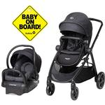 Maxi-Cosi Zelia Travel System with Mico 30 Car Seat - Nomad Black with Baby On Board Sign