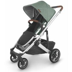 UPPAbaby 0420-CRZ-NA-EMT Cruz V2 Stroller - Emmett (Green Mélange/Silver/Saddle Leather)
