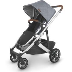 UPPAbaby 0420-CRZ-NA-GRG Cruz V2 Stroller - Gregory (Blue Mélange/Silver/Saddle Leather)