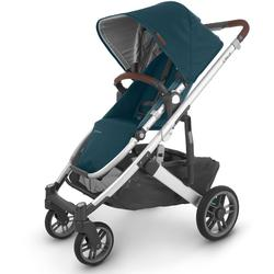 UPPAbaby 0420-CRZ-NA-FIN Cruz V2 Stroller - Finn (Deep Sea/Silver/Chestnut Leather)