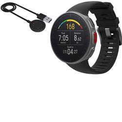 Polar Vantage V Multi Sport GPS Watch without Heart Rate - Black with USB Charging Cable