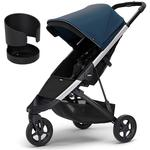 Thule Spring Stroller - Majolica Blue with Cup Holder