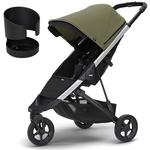 Thule Spring Stroller - Olive with Cup Holder