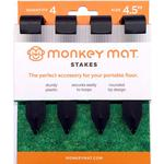 Monkey Mat Portable Floor Stakes - 4 pack