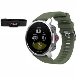Polar Grit X Multi-Sport GPS Watch - Green (M/L) with H10 Heart Rate Monitor