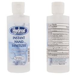Hydrox - Instant Hand Sanitizer with Moisturizers Aloe and Vitamin E 4 FL OZ (118 ml)  Made IN USA 300 Pack