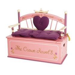 Levels of Discovery LOD20007 Princess Toy Box Bench