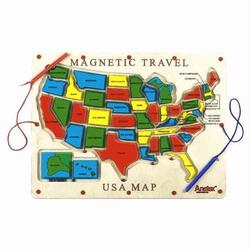 Anatex UM2007 Magnetic Travel USA Map