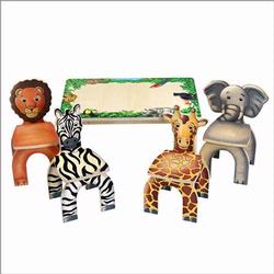 Anatex STA7728 Safari Table & Animal Chairs