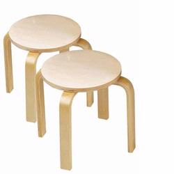 Anatex ST5004 Wooden Sitting Stools (set of 2)