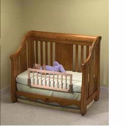 KidCo BR100 Convertible Crib Rail - Natural Wood