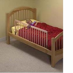 KidCo BR200 Children's Bed Rail- Natural Wood