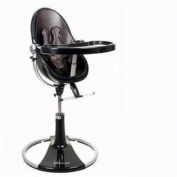 Bloom 10508BHBL, Fresco Loft High Chair With Black Frame And Henna Brown  Seat Pad