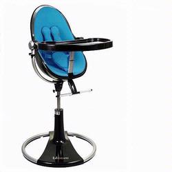 Bloom 10508BBB Fresco Loft High Chair With Black Frame and Bermuda Blue Seat Pad