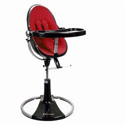Bloom 10508BRR Fresco Loft High Chair With Black Frame and Rock Red Seat Pad