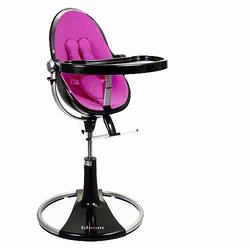 Bloom 10508BBRP Fresco Loft High Chair With Black Frame and Rosy Pink Seat Pad