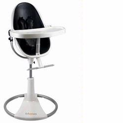 Bloom 10508WMBL Fresco Loft High Chair With White Frame and Midnight Black Leatherette Seat Pad