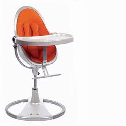 Bloom 10508WHO Fresco Loft High Chair With White Frame and Harvest Orange Seat Pad