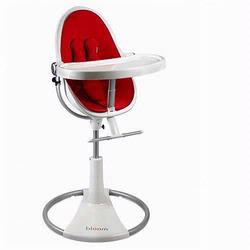 Bloom 10508WRR Fresco Loft High Chair With White Frame and Rock Red Seat Pad