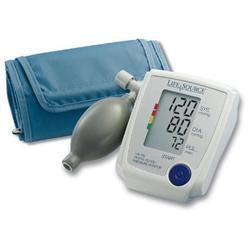 Lifesource UA-705V Advanced Manual Inflate Blood Pressure Monitor with Pressure Rating Indicator - Medium Cuff