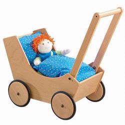 Haba 1624 Doll Pram- Natural
