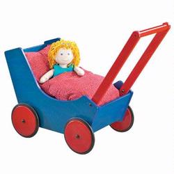 1625 Haba Doll Pram- Blue/Red