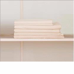 90950 naturalmat Crisp Organic Cotton Percale Fitted Sheets