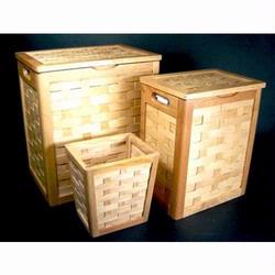 5110 Redmon Honey Maple Collection Set (5100 Hamper, 5106 Compact Hamper, and 5104 Wastebasket)