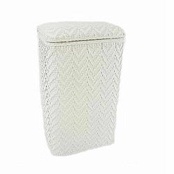 123WH Redmon Elegante Ensemble Apartment Hamper - White